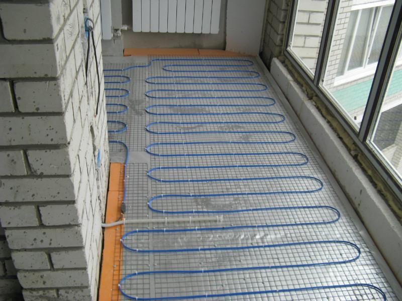 Теплый пол балкона своими руками